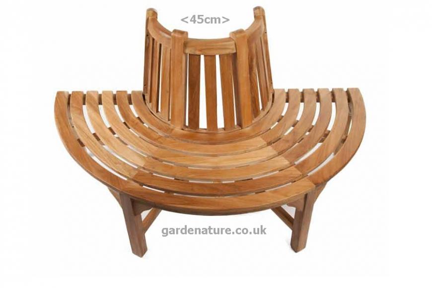 half round tree bench
