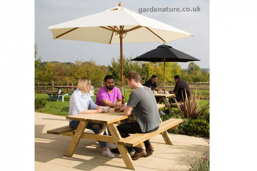 outdoor restaurant benches
