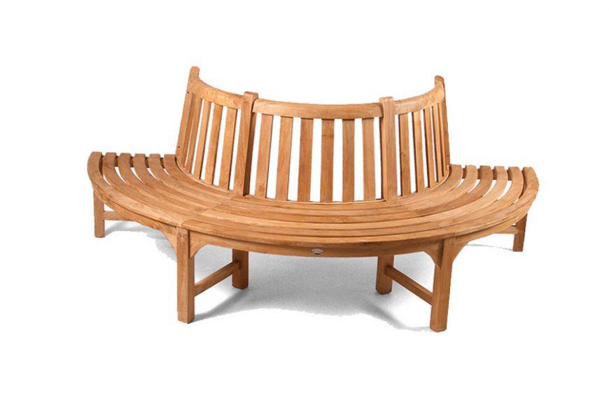 Large Half Round Teak Tree Seat