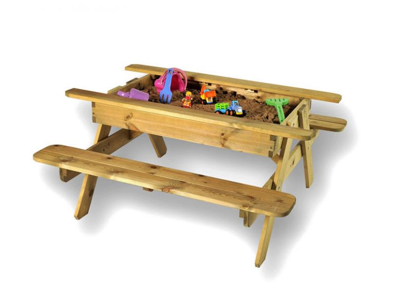 sandpit picnic table