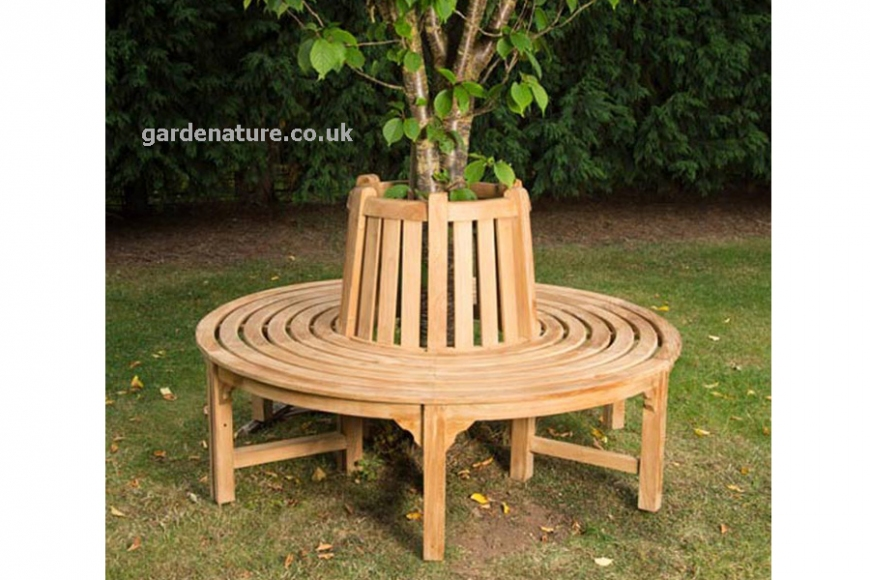 small round tree seat