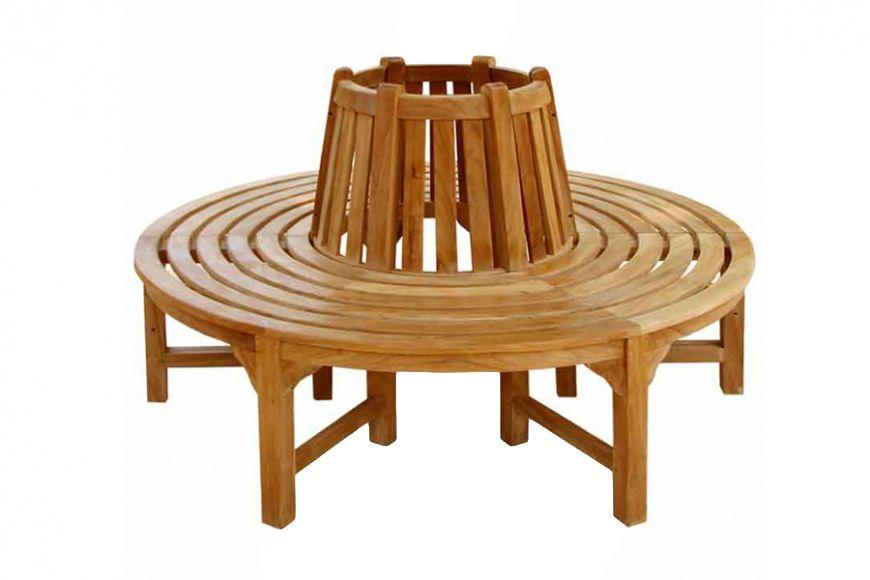 Full Round Teak Tree Seat
