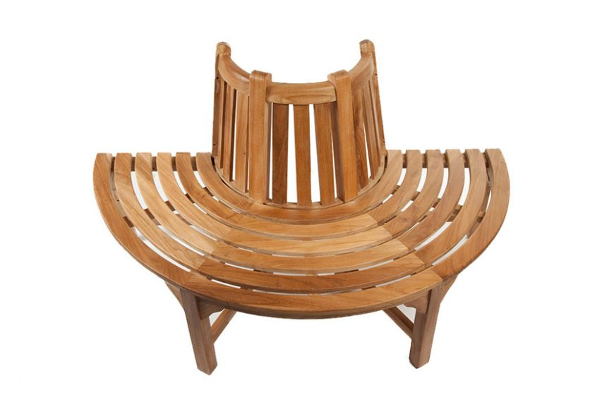 tree seat half round