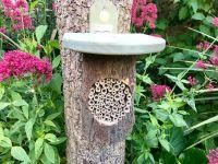 Natural bee log nester