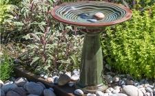ornate bird bath - gardenature.co.uk