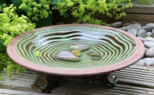 terracotta bird bath - gardenature.co.uk
