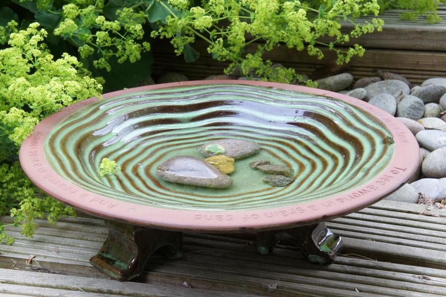 Ceramic Bird Bath