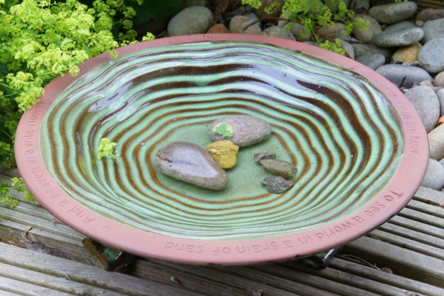 ceramic bird bath - gardenature.co.uk