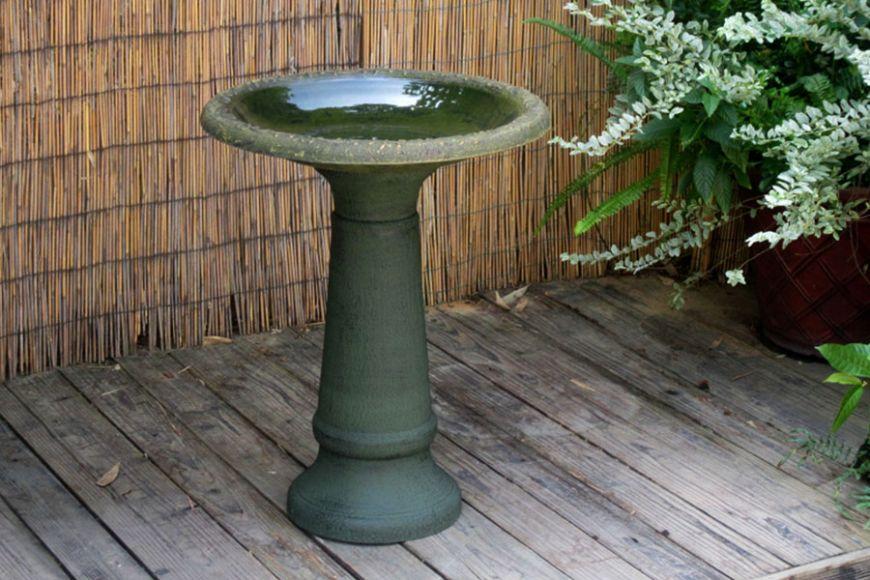 pedestal bird bath   gardenature.co.uk