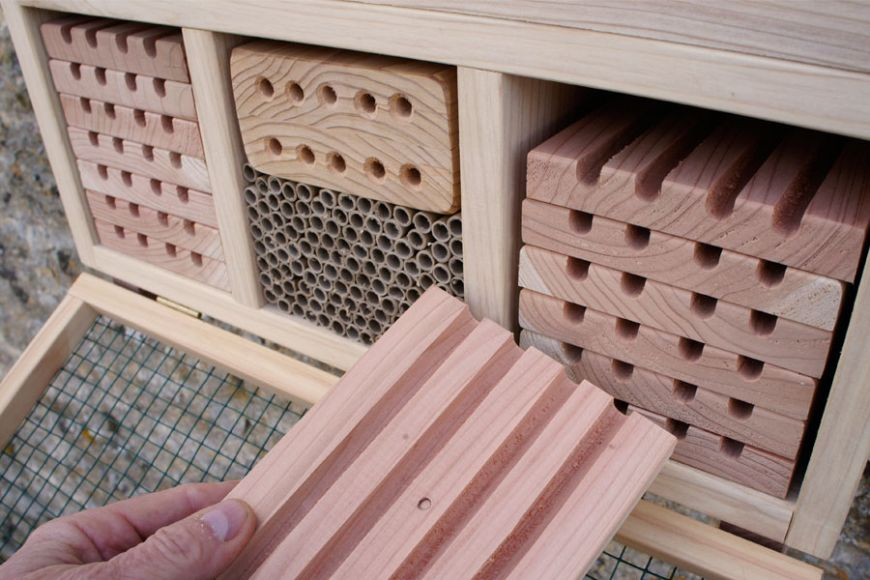 solitary bee nesting box | gardenature.co.uk