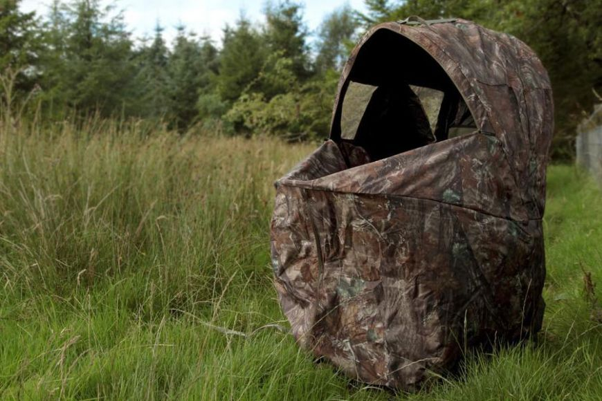 Camo chair hide for photography