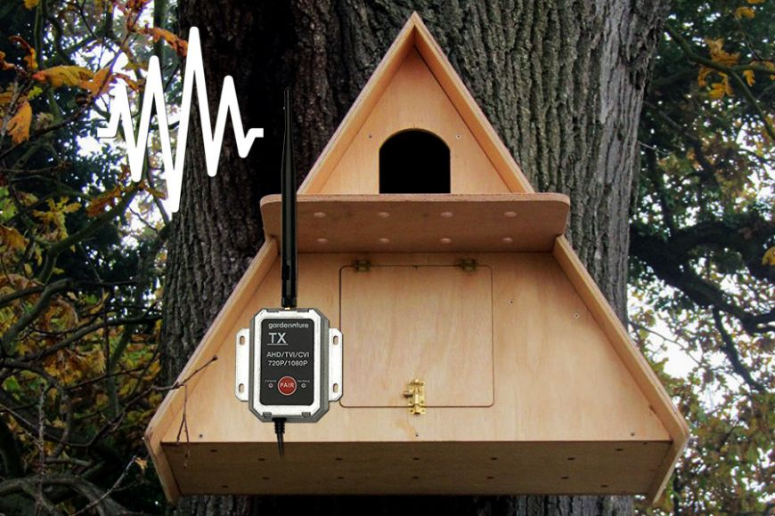 Barn Owl Box with Wireless AHD Camera