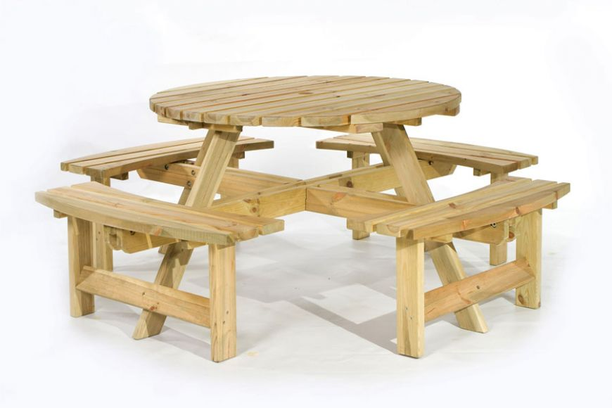woodland picnic tables | gardenature
