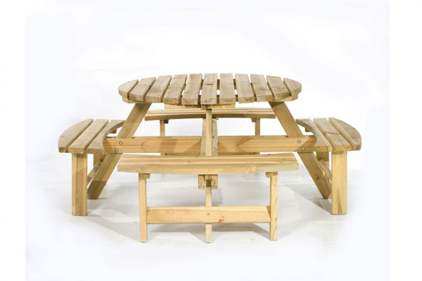 York 8 Seater Picnic Table - Pine