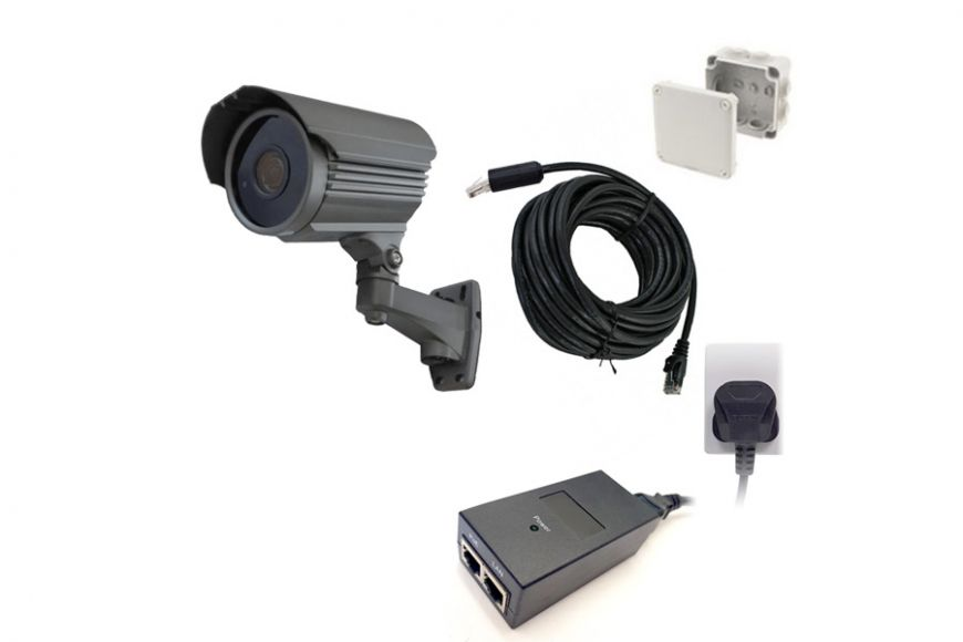 Weatherproof IP camera medium range