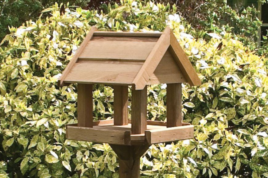 Bisley bird table from gardenature