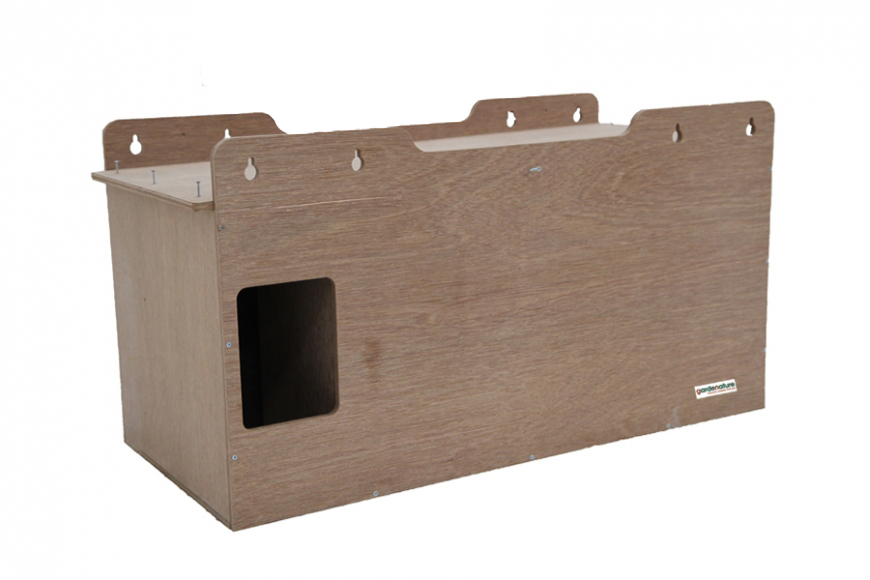 large owl or kestrel box. internal external