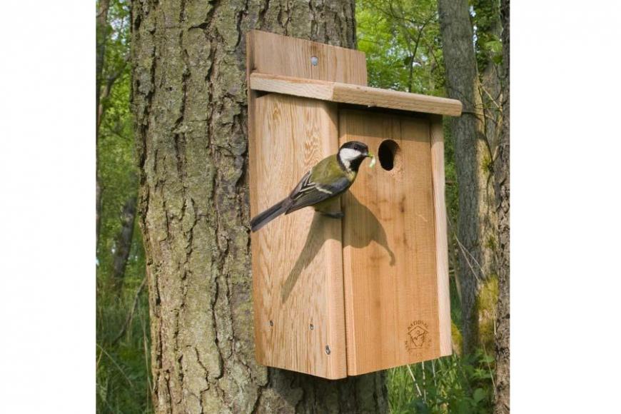 cedar nesting box | gardenature.co.uk