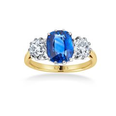 Heritage Sapphire Trilogy Ring