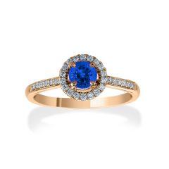 Sapphire Halo Ring