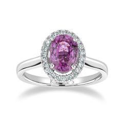 Pink Sapphire Halo