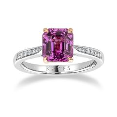 Pink Sapphire Solitaire