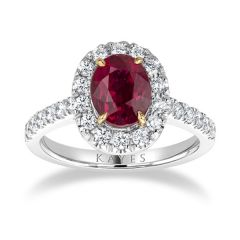 Ritz                                                                - Ruby Halo Ring