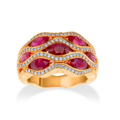Ruby 'Flame' ring