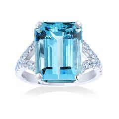 Aquamarine Cocktail Ring
