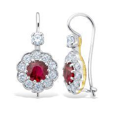 Heritage Ruby Eardrops