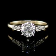 Vintage Diamond Solitaire