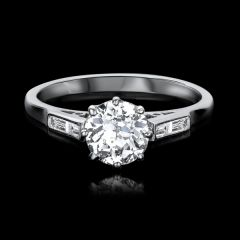 Vintage Diamond Solitare Ring