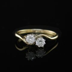 Vintage Diamond Duet Ring