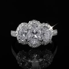 Oval Diamond Trilogy Ring