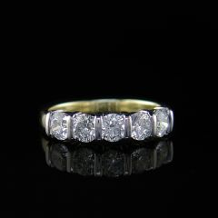 Pre-Owned Diamond Five Stone Ring