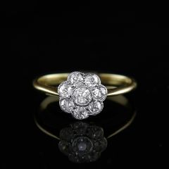 Edwardian Diamond Cluster