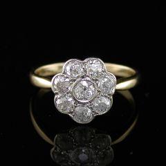 Edwardian Diamond Cluster