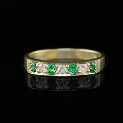 Emerald & Diamond Eternity Ring