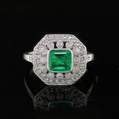 Art Deco Emerald