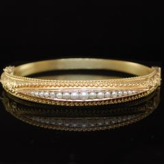 Edwardian Pearl Bangle