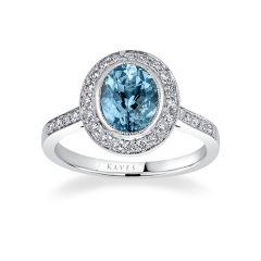 Savoy Aquamarine Ring