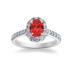 Ritz - Ruby Halo Ring