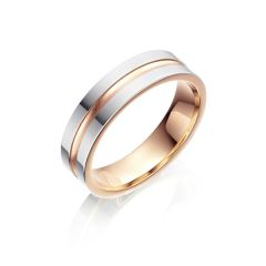 Pink Gold & Palladium Wedding Ring