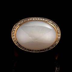Designer made Moonstone Ring