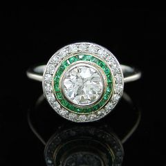 Art Deco Cluster Ring