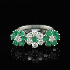 1970's Triple Cluster Ring