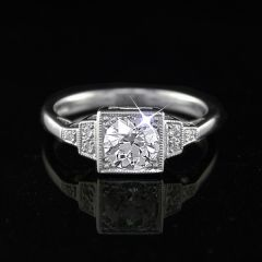 Art Deco Style Diamond Solitaire