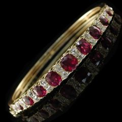Victorian Ruby Bangle