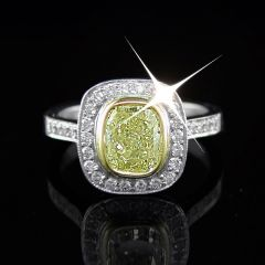 Rare Yellow Diamond Ring