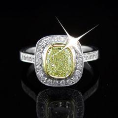 Rare Yellow Diamond Ring